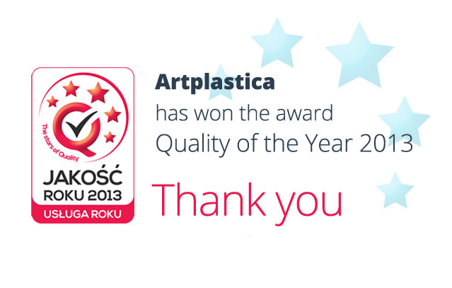 Artplastica has won the award Quality of the Year 2013