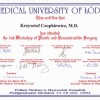 Certyfikaty - Dr Krzysztof Czopkiewicz