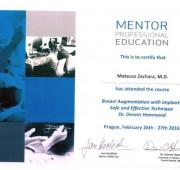 Beauty Group - Artplastica -Dr n. med. Mateusz Zachara - certyfikaty