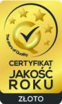 Certyfikat - Jakość Roku 2017 - ZŁOTO - w kategorii usługa roku - operacje plastyczne