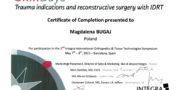 Certyfikat - dr Magdalena Bugaj
