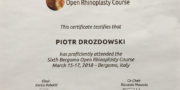 dr Piotr Drozdowski - certyfikat