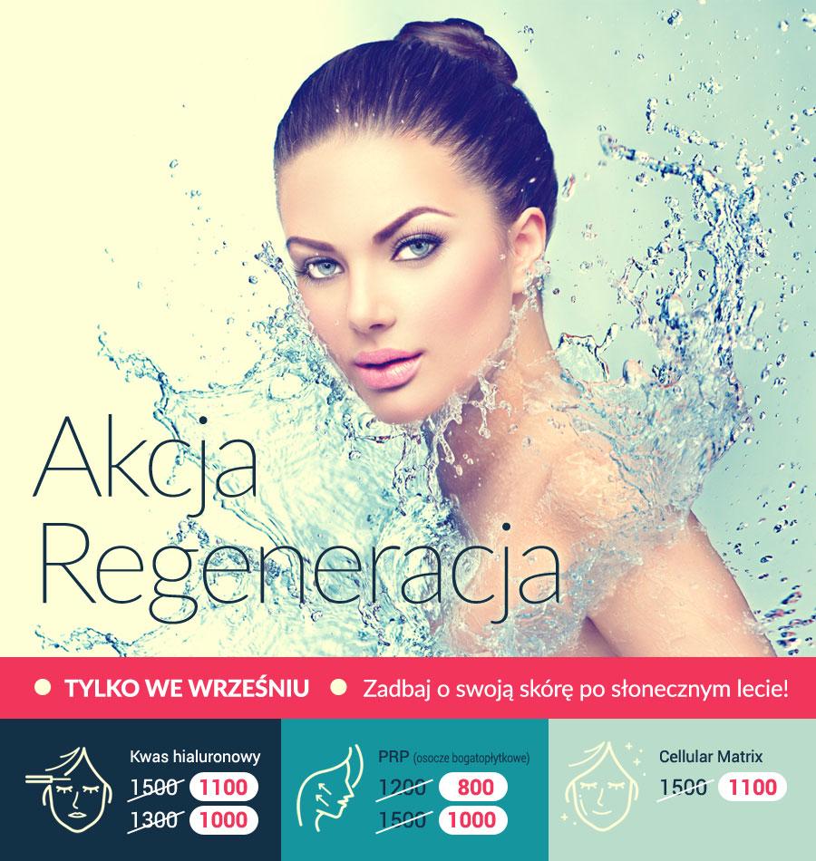 Akcja - regeneracja w klinice Beauty Group w Szczecinie - rabaty na zabiegi medycyny estetycznej