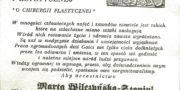 Certyfikat - Marta Wilczyńska Staniul - specjalista chirurgii plastycznej